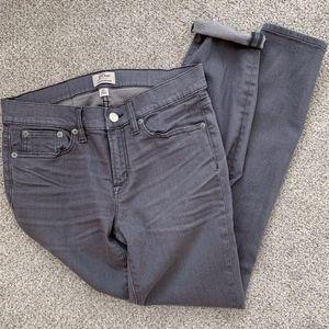 J. CREW Toothpick Skinny Jeans in Gray